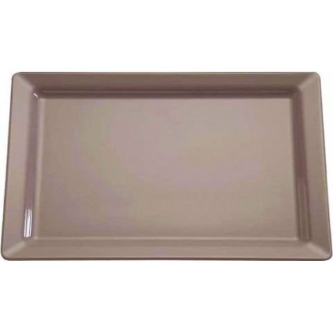 PLAT PURE COLOR TAUPE 53X18CM